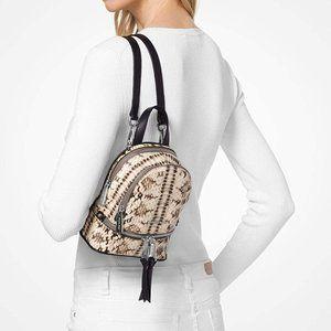 NWT Michael Kors Mini Rhea Leather Backpack